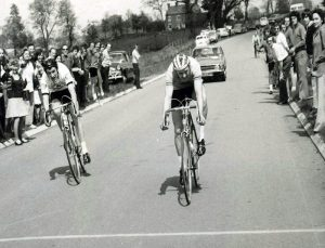Somerset Road Club rider Peter Sandy winning the Divisional Championships