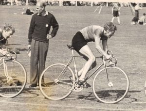 Brian Sandy of Somerset Road Club in grass track action
